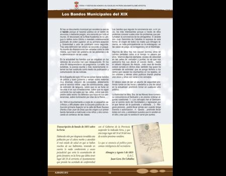 Descripción de Archivo Municipal. Los Bandos Municipales del XIX