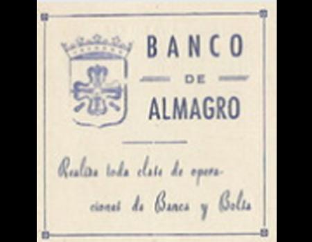 Cosas olvidadas de Almagro. La banca almagreña.