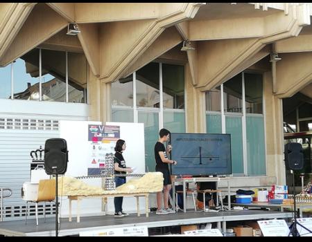Alumnos de 2º de Bachillerato del Instituto Clavero Fernández de Córdoba obtienen el 2º premio de la fase regional  del concurso de diseño de puentes con K'nex
