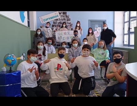 El colegio Miguel de Cervantes pasa a la fase regional del concurso escolar de la ONCE sobre prevención de riesgos con las tecnologías
