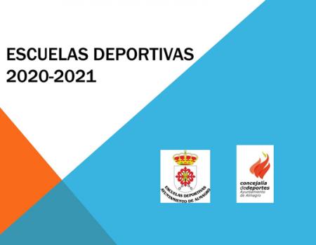 Confirmación de plaza Escuelas Deportivas 2020-2021