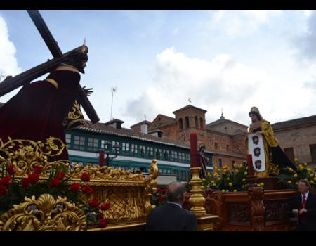La procesión del Sermón anuncia el Viernes Santo en Almagro