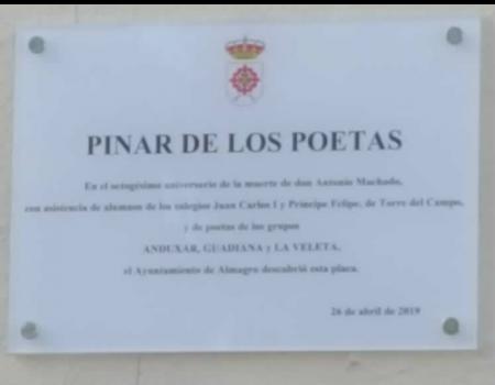 Almagro tiene un lugar dedicado a los poetas