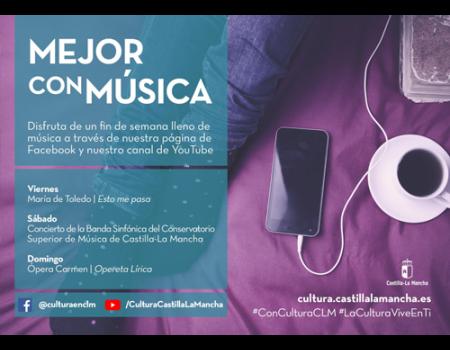 El canal Youtube de Cultura Castilla-La Mancha ofrece 84 actuaciones online de artistas de la región este fin de semana
