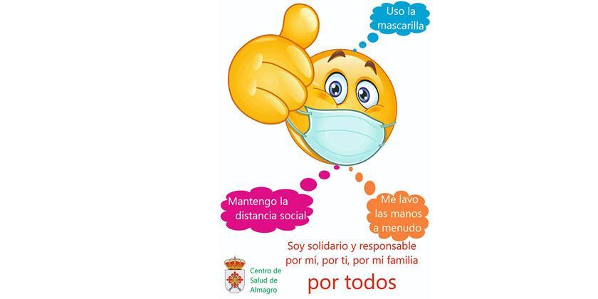 El Ayuntamiento y el Centro de Salud de Almagro lanzan una campaña de dirigida a los jóvenes para prevenir la COVID-19