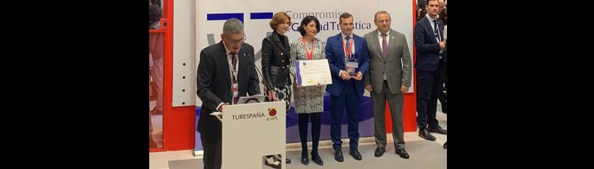El hotel Retiro del Maestre recibe el reconocimiento a su calidad en Fitur: primer finalista como establecimiento más competitivo de 2019