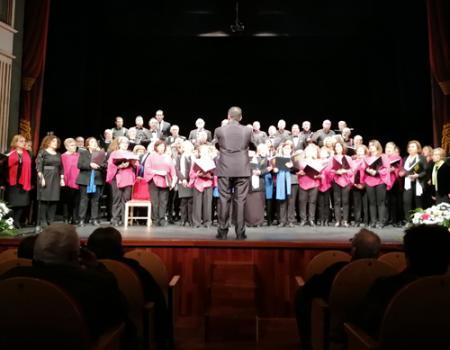 La coral polifónica Orden de Calatrava recauda casi mil euros de solidaridad en su encuentro anual de agrupaciones vocales