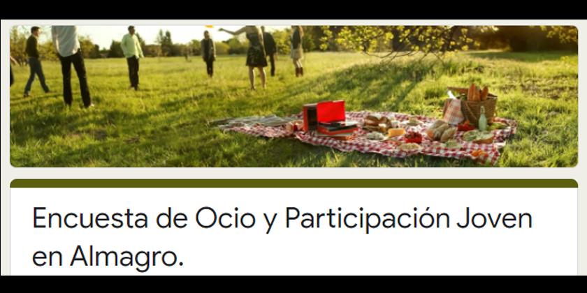 Encuesta de Ocio y Participación Joven en Almagro.