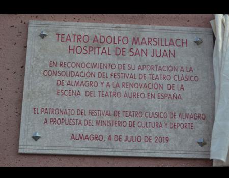 El Hospital de San Juan es rebautizado con el nombre de Teatro Adolfo Marsillach