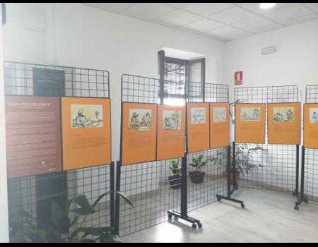 La Biblioteca acoge una exposición sobre capítulos de El Quijote ilustrado con dibujos
