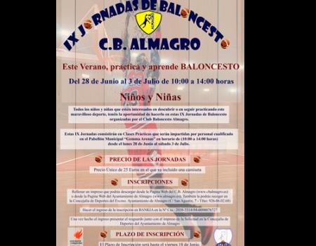IX Jornadas de Baloncesto organizadas por el CB Almagro