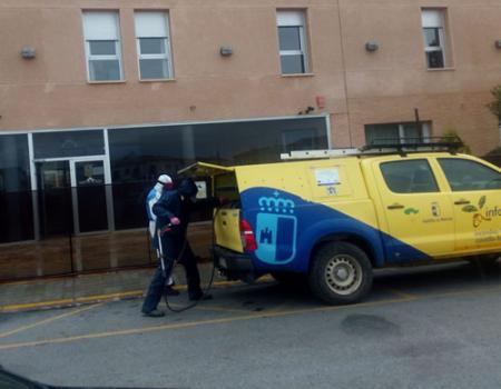 El Ayuntamiento desinfectó la ciudad por segunda vez y hoy llega Geacam para incidir en la desinfección con mayor afluencia de personas