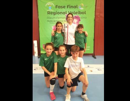 Título provincial para el alevín de voleibol almagreño