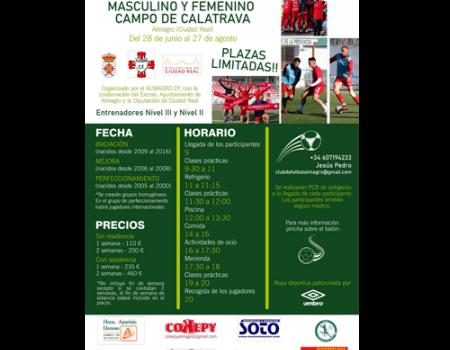 El Almagro C.F. organiza el campus de fútbol