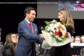 Francisco Grau fue homenajeado en el Concierto de Santa Cecilia en Almagro