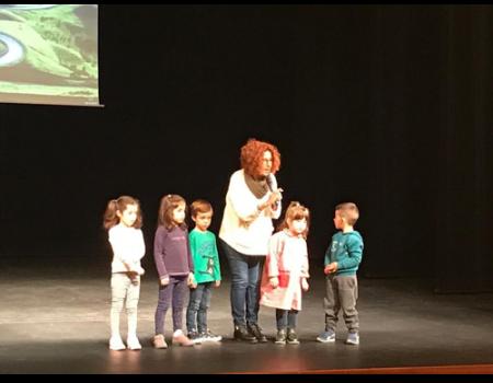 Los alumnos de Infantil del colegio Miguel de Cervantes participan en las II Jornadas Solidarias de Cine en educación y valores