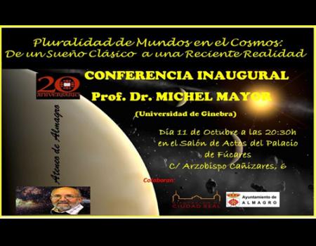 Michel Mayor, Premio Nobel de Física 2019, estará en el Ateneo de Almagro la próxima primavera