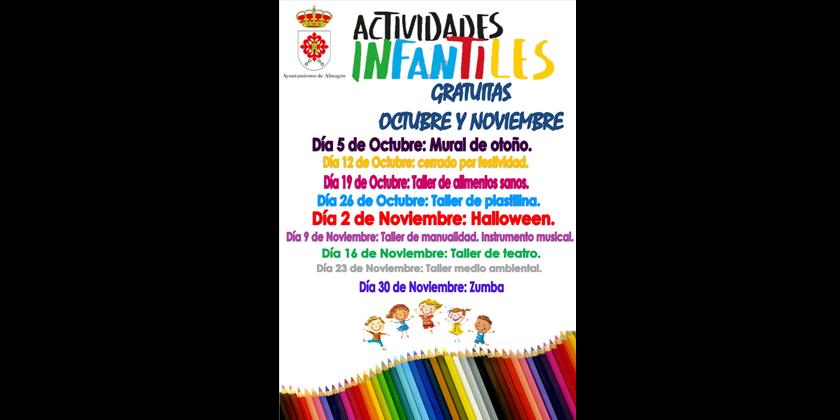 Las actividades infantiles comienzan este sábado en el centro de ocio