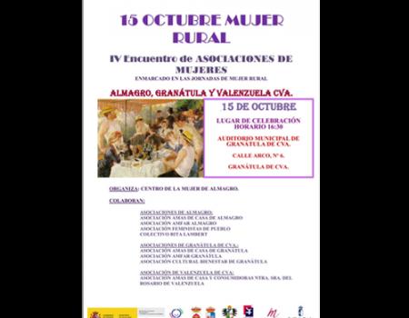 Las asociaciones de mujeres celebrarán el Día de la Mujer Rural en Granátula de Calatrava