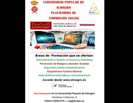 La plataforma Red Quijote de las Universidades Populares sigue activa con unos 500 cursos on line