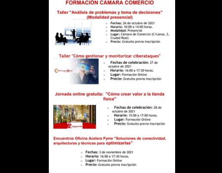 NUEVAS FORMACIONES GRATUITAS DE LA CÁMARA DE COMERCIO DE CIUDAD REAL