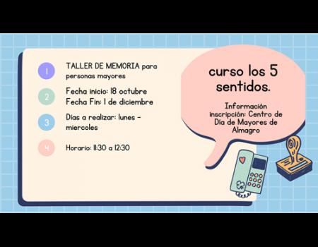 El Centro de Día de Mayores organiza un taller de memoria para ejercitar los cinco sentidos