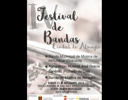 El Teatro Adolfo Marsillach acoge la IV del festival de Bandas de Música Ciudad de Almagro