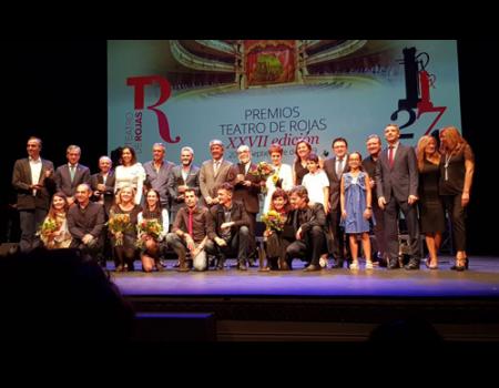Luis Molina recibe el Premio Especial Teatro Rojas por su larga y fructífera trayectoria dedicado a las artes escénicas