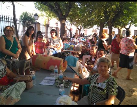 Encajeras almagreñas participaron en el XIII encuentro de encajeras de Bolaños