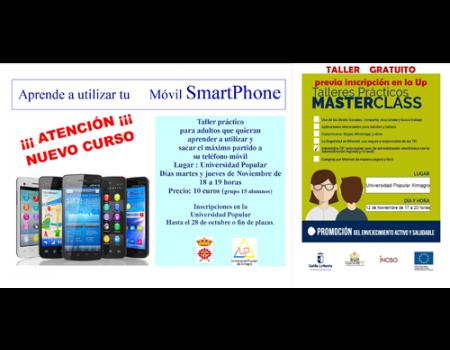 Abierto el plazo de inscripción para dos talleres sobre el uso de móviles y  la administración electrónica