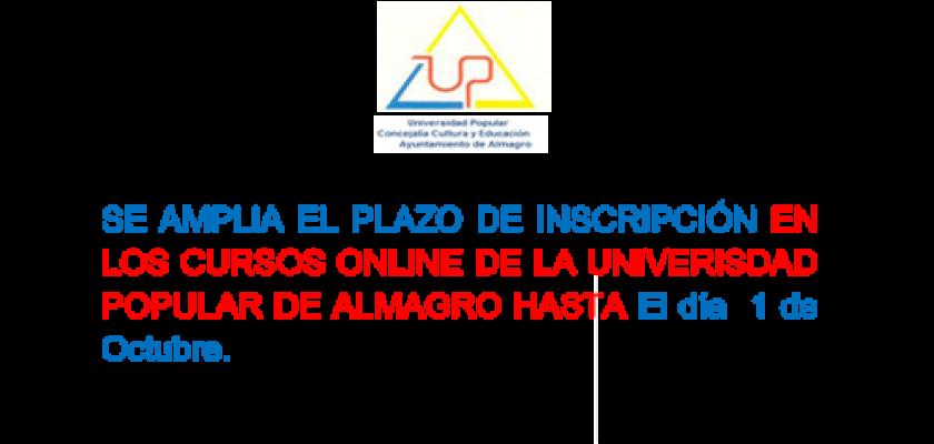 SE AMPLIA EL PLAZO DE INSCRIPCIÓN EN LOS CURSOS ONLINE DE LA UNIVERSIDAD