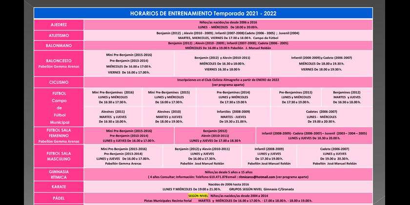 El plazo de inscripción de las escuelas deportivas municipales se abre el 1 de septiembre y finaliza el 30 de septiembre