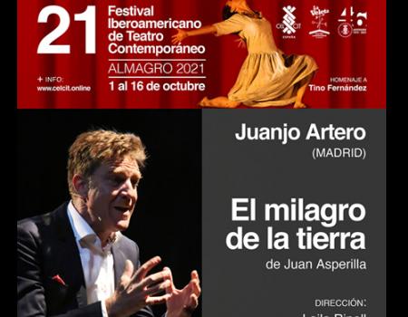 """Juan Artero llega a Almagro este sábado con su proyecto más íntimo y unipersonal, 𠇎l milagro de la tierra"""""""