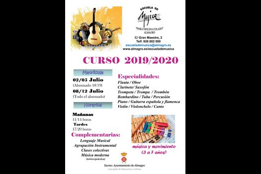 Escuela de Música - Curso 2019/2020