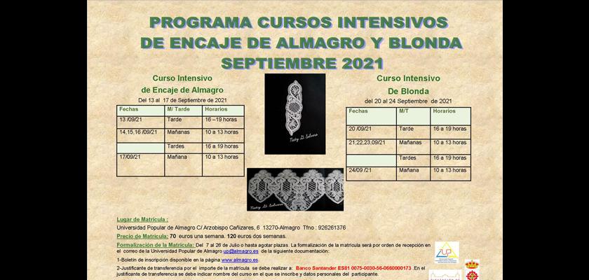 Cursos intensivos de Encaje y Blonda para Septiembre 2021