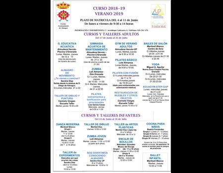Universidad Popular - Cursos Verano 2018/19
