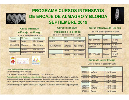 Universidad Popular - Cursos de encaje y blonda