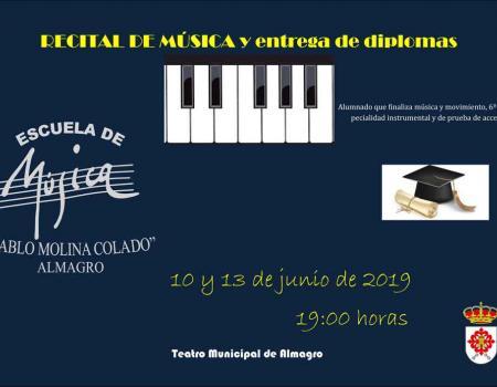 Recital de música y entrega de diplomas