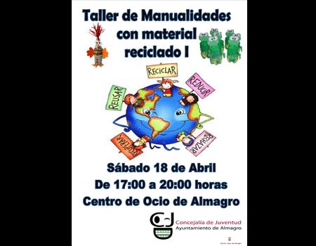 Taller infantil gratuito. Manualidad de reciclaje