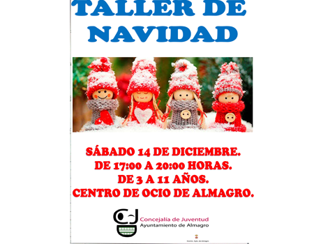 Talleres de Navidad. Actividad infantil gratuita