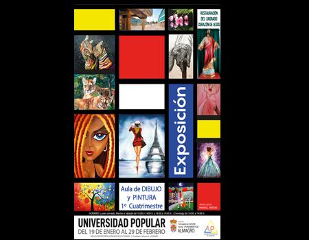 Exposición trabajos del aula de dibujo y pintura de la Universidad Popular