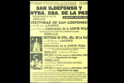 Festiviades de SAN ILDEFONSO Y LA VIRGEN DE LA PAZ (santos viejos)