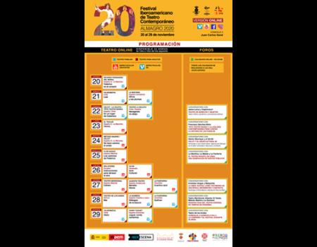 El XX Festival Iberoamericano de Teatro Contemporáneo se exhibirá por varias plataformas audiovisuales