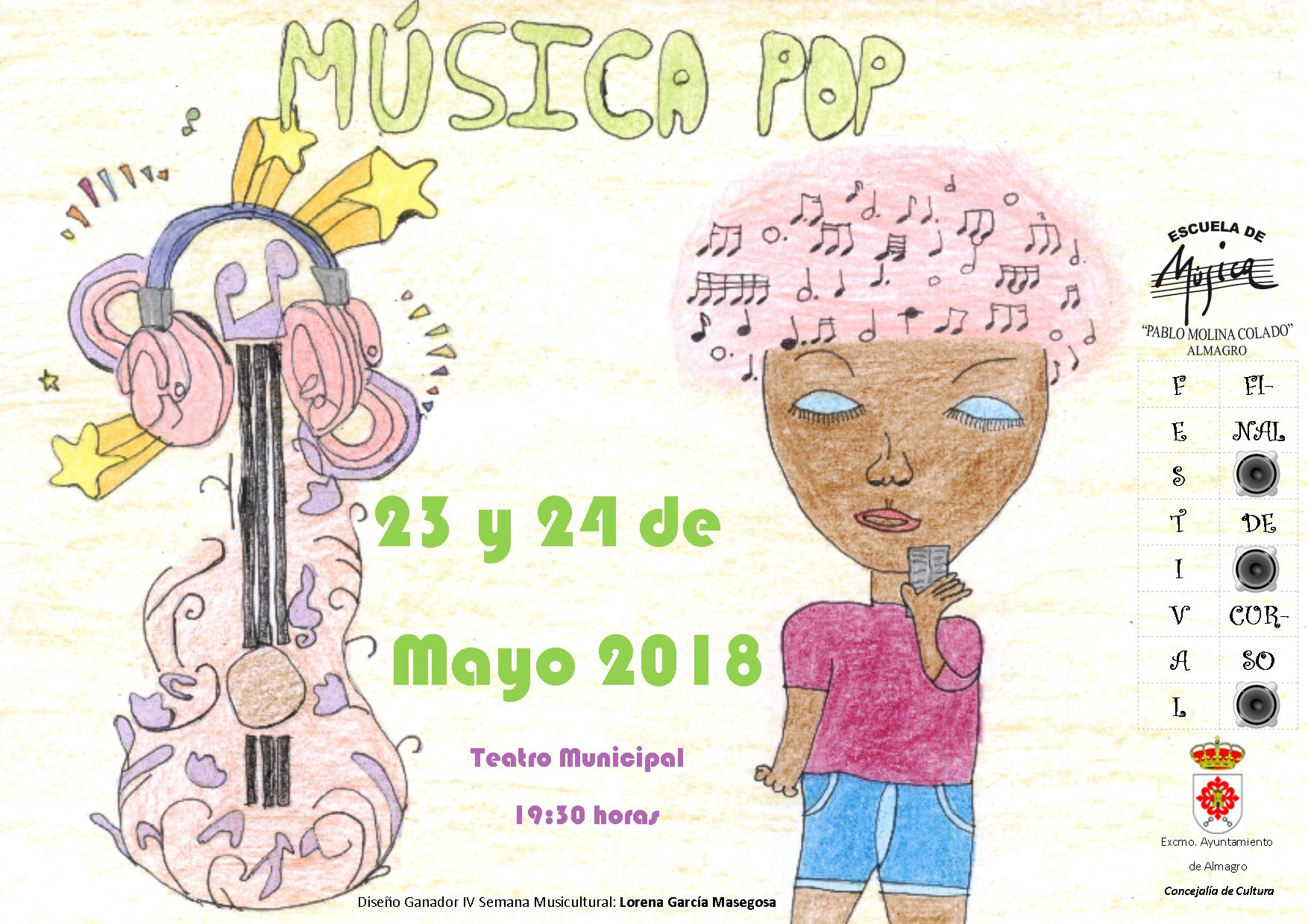 diseo cartel musica pop