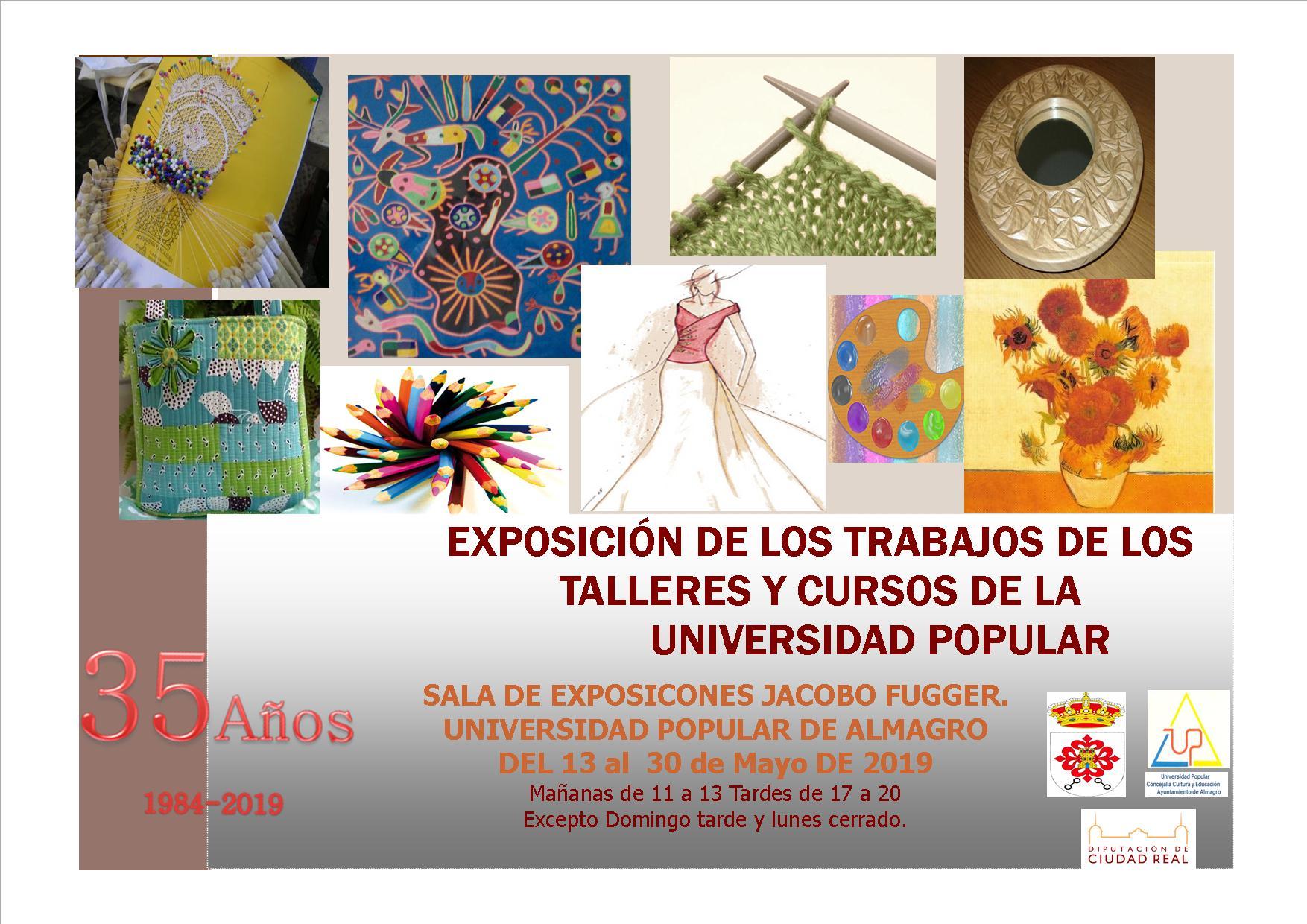Exposición de los trabajos de los talleres y cursos de la UP