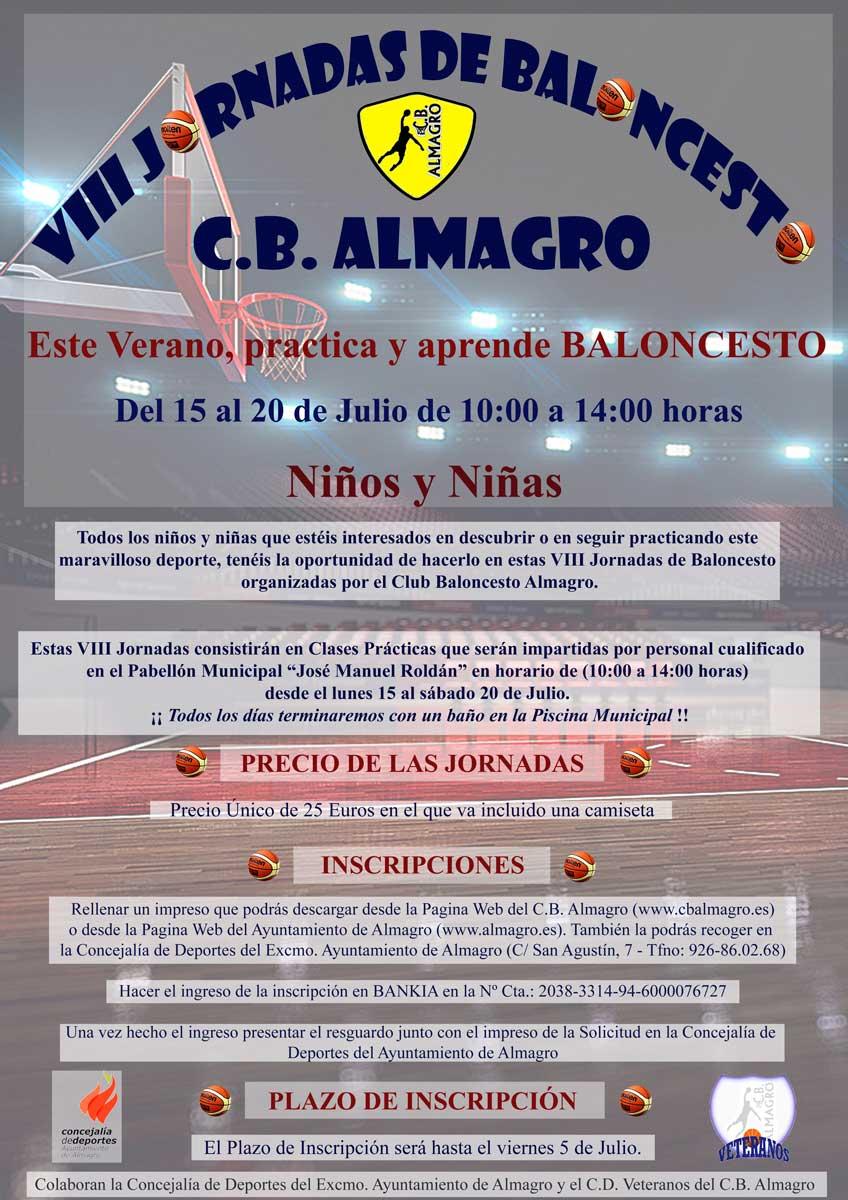 VIII Jornadas de Baloncesto C. B. Almagro