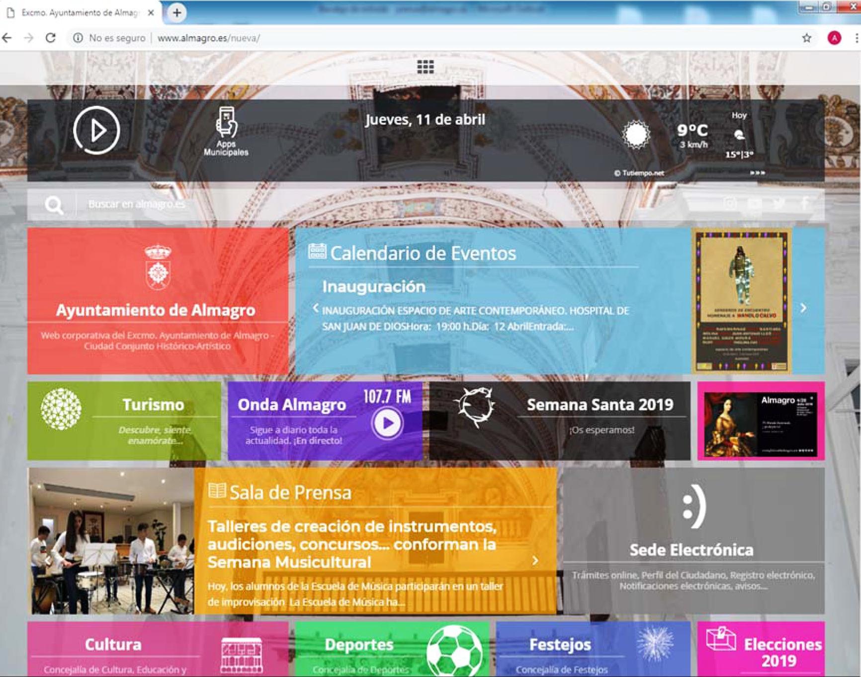 El Ayuntamiento estrena mañana nueva página web más versátil, ágil y accesible