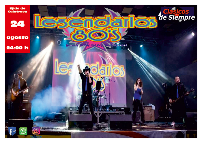 La orquesta Los Legendarios 80's y la actuación de la peña flamenca se traslada al domingo