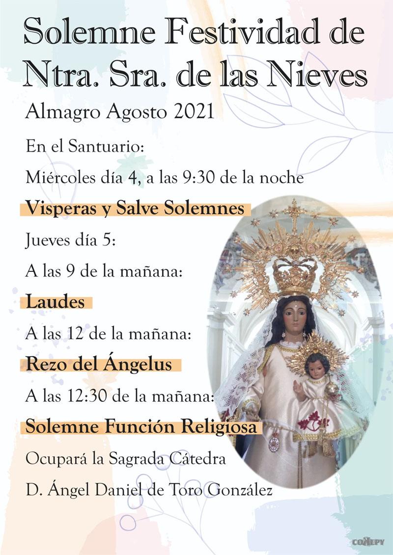 Todo preparado para la festividad de Nuestra Señora de las Nieves