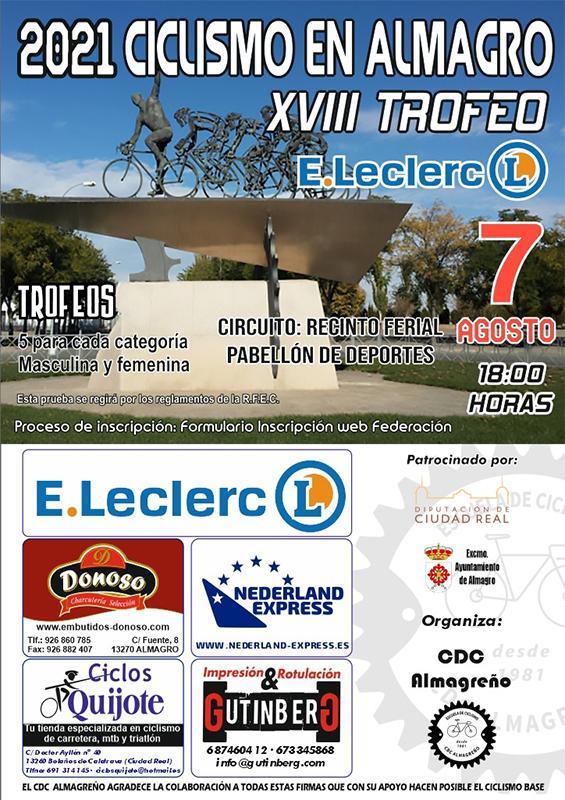 El XVIII Trofeo E.Leclerc da inicio al intenso calendario de ciclismo de escuelas que se desarrollará en agosto